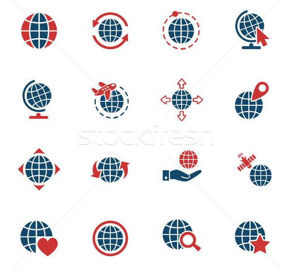 Globos iconos de la web usuario interfaz diseno Foto stock © ayaxmr