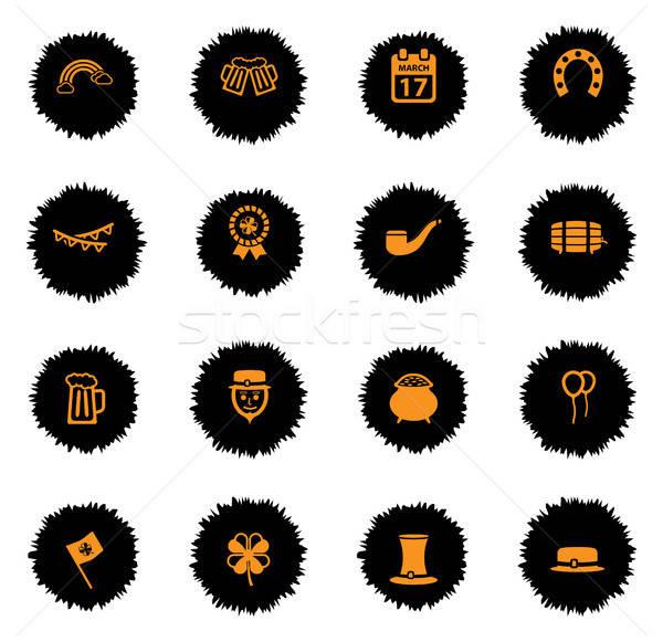 Eenvoudig iconen vector web gebruiker Stockfoto © ayaxmr