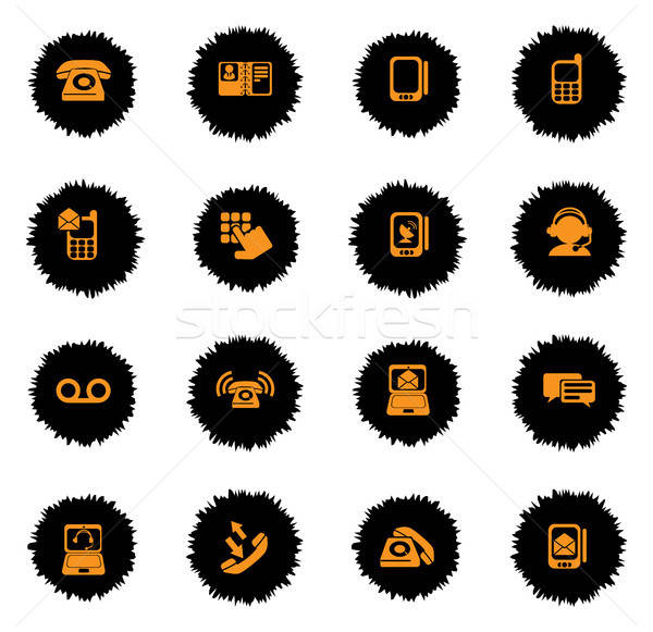 Teléfono iconos vector web usuario interfaz Foto stock © ayaxmr