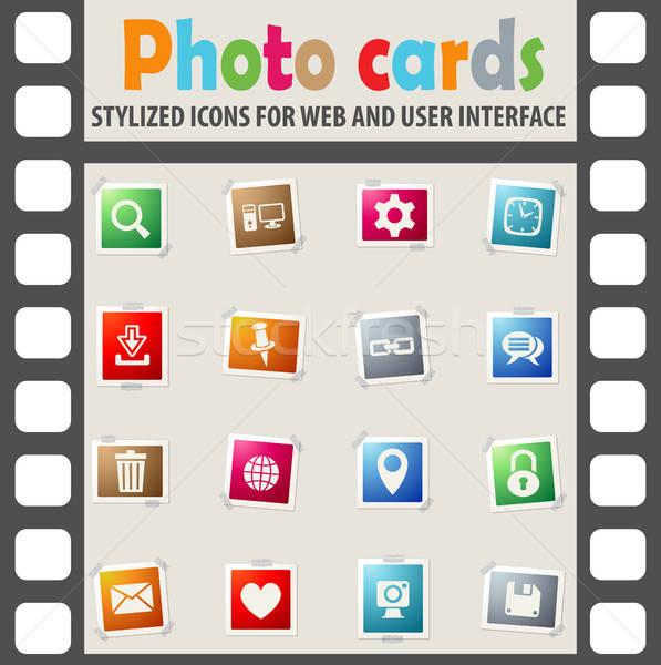 Blog icone web utente interfaccia design Foto d'archivio © ayaxmr