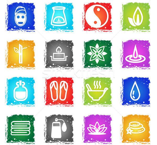 Iconos de la web grunge estilo usuario Foto stock © ayaxmr