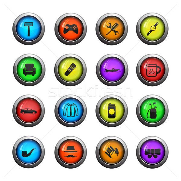 Dag eenvoudig iconen web gebruiker Stockfoto © ayaxmr