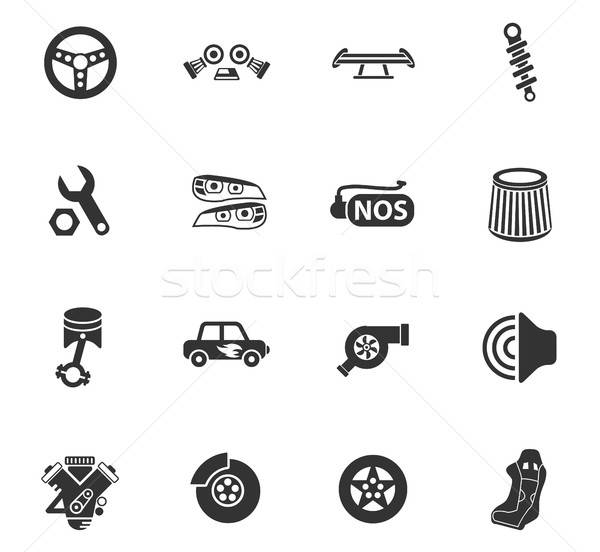 Auto tuning web icons gebruiker interface Stockfoto © ayaxmr