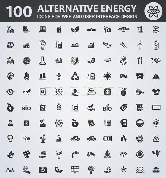 Alternatif enerji simgeler web kullanıcı Stok fotoğraf © ayaxmr
