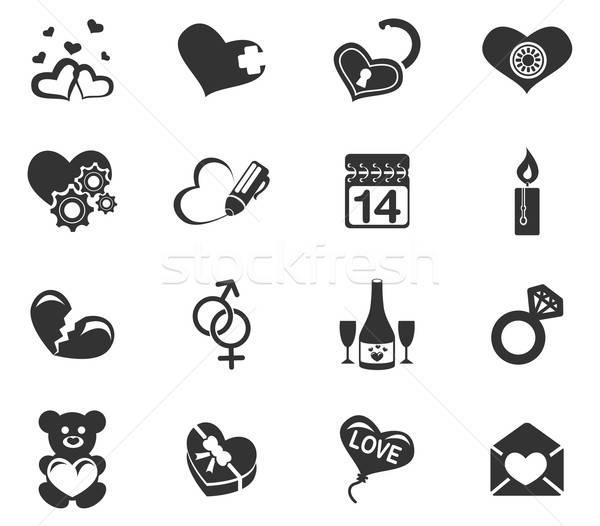 Stok fotoğraf: Sevmek · simgeler · sadece · semboller · web