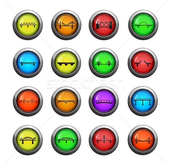 Puentes color icono web usuario Foto stock © ayaxmr