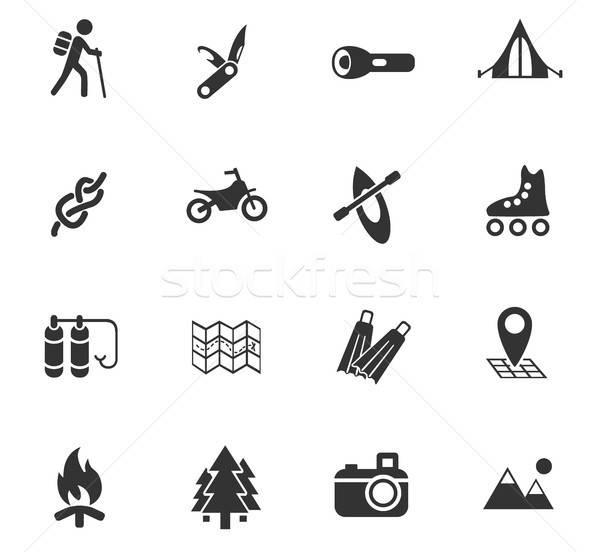 Stockfoto: Actief · ontspanning · web · icons · gebruiker · interface