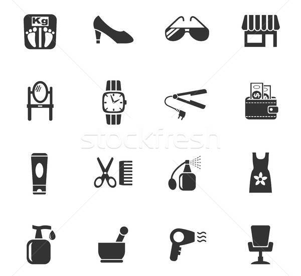 beauty salon icon set Stock photo © ayaxmr