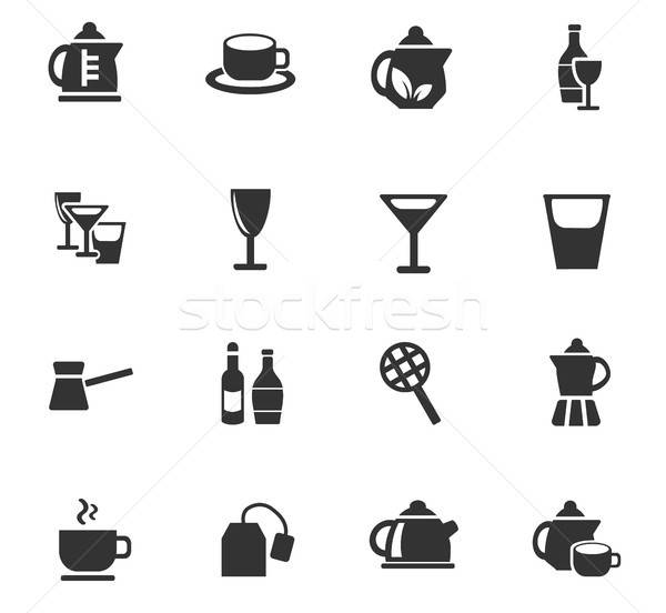 utensils for beverages icon set Stock photo © ayaxmr