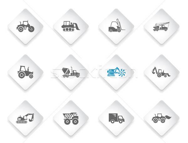 Szimbólumok építkezés gépek egyszerűen háló felhasználó Stock fotó © ayaxmr