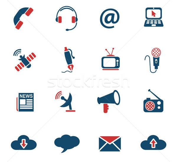Komunikacji web ikony użytkownik interfejs projektu Zdjęcia stock © ayaxmr