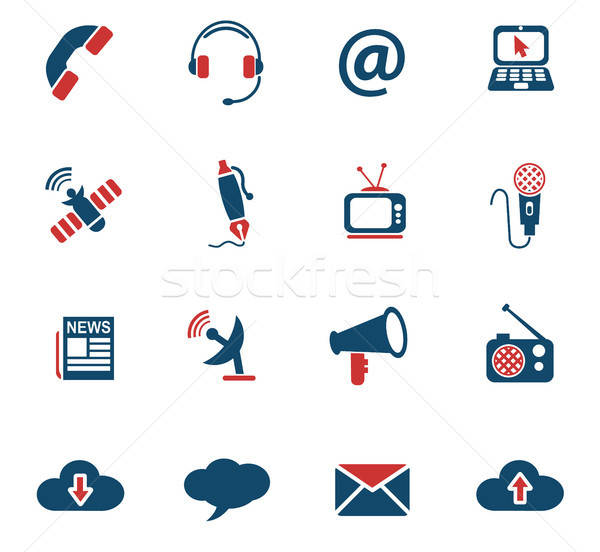 Communication icônes web utilisateur interface design Photo stock © ayaxmr