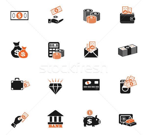 Geld web icons gebruiker interface ontwerp Stockfoto © ayaxmr