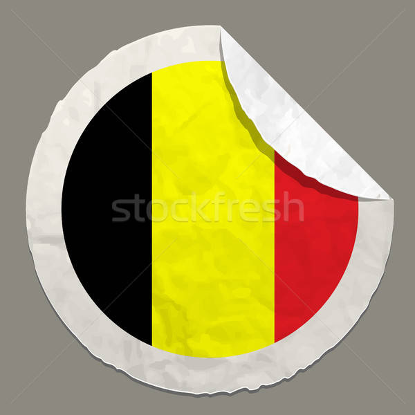 Belgium flag on a paper label Stock photo © ayaxmr