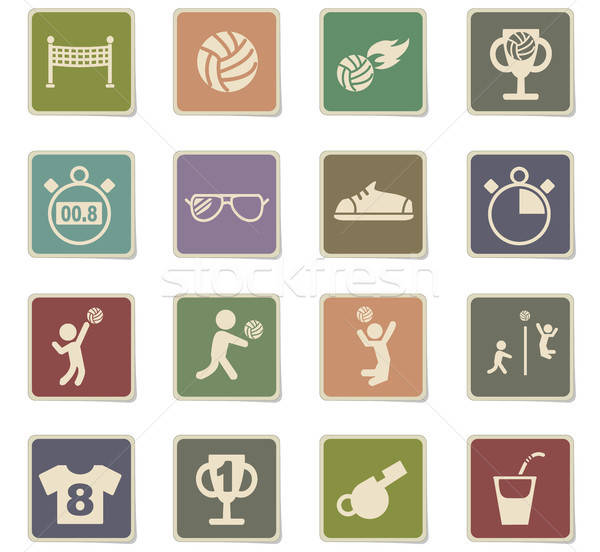 バレーボール webアイコン ユーザー インターフェース デザイン ストックフォト © ayaxmr