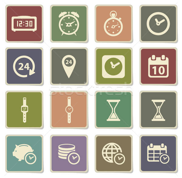 Stock photo: Time simply icons
