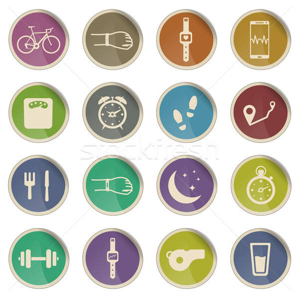 Jogging and workout simply icons Stock photo © ayaxmr