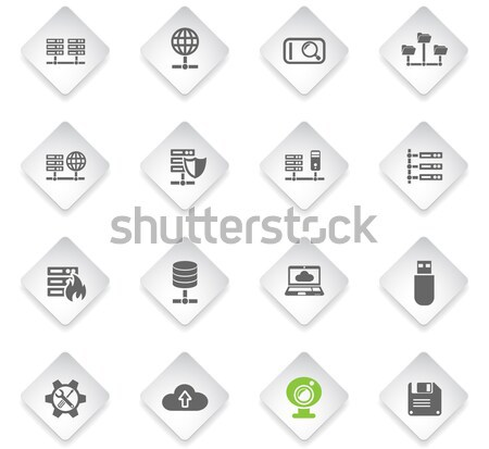 Energy and Industry icons set Stock photo © ayaxmr