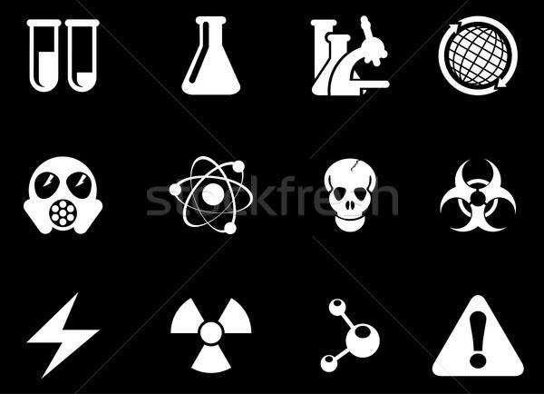 Tudomány szimbólumok egyszerűen háló felhasználó interfész Stock fotó © ayaxmr