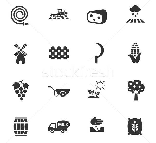 agricultural icon set Stock photo © ayaxmr