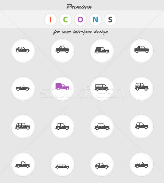 Cars simply icons Stock photo © ayaxmr