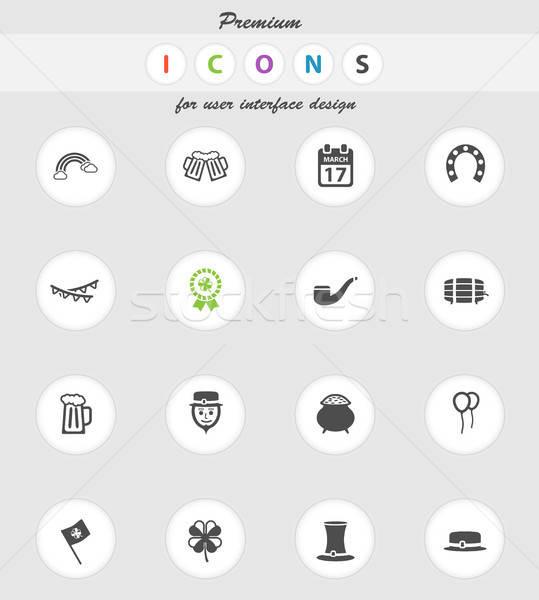 Día de san patricio simplemente iconos vector web usuario Foto stock © ayaxmr
