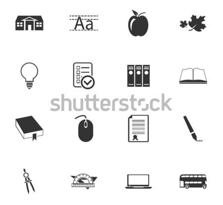 Escuela simplemente iconos web usuario Foto stock © ayaxmr