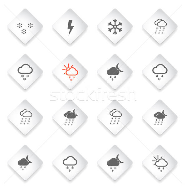 Weather simply icons Stock photo © ayaxmr