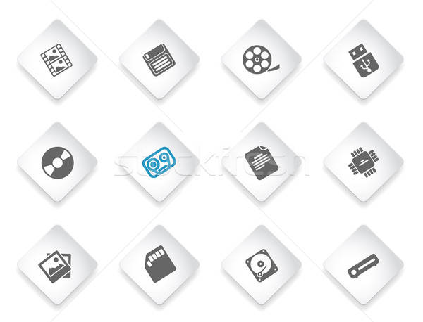 Information carriers icons Stock photo © ayaxmr