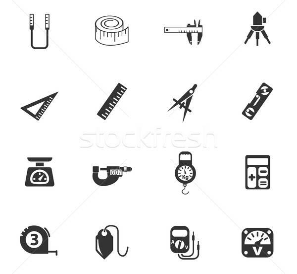 measuring tools icon set Stock photo © ayaxmr
