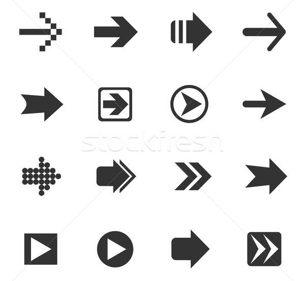 arrow icon set Stock photo © ayaxmr