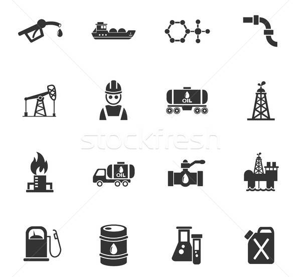 extraction of oil icon set Stock photo © ayaxmr