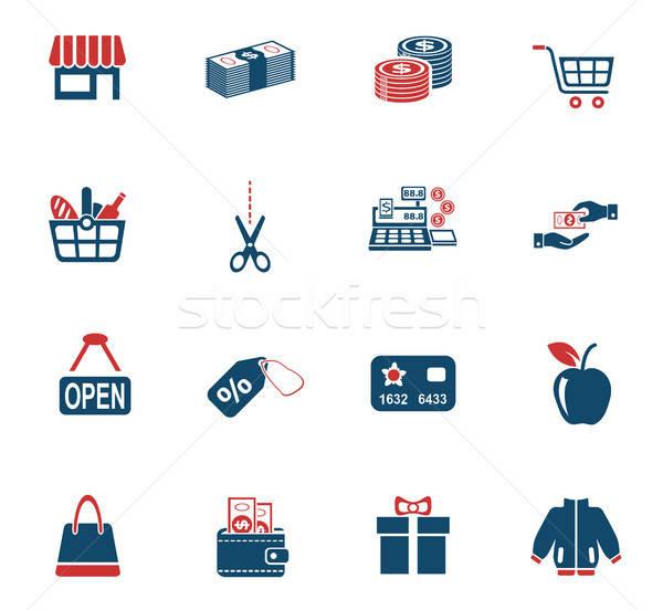 Alışveriş web simgeleri kullanıcı arayüz dizayn Stok fotoğraf © ayaxmr