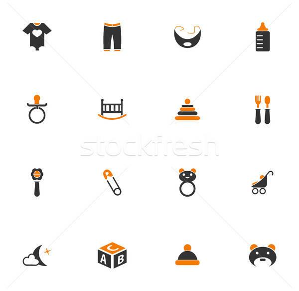 Baby icons set Stock photo © ayaxmr