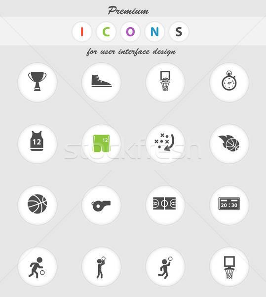 Baloncesto simplemente iconos vector web usuario Foto stock © ayaxmr