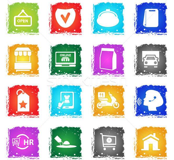 e-commerce icon set Stock photo © ayaxmr