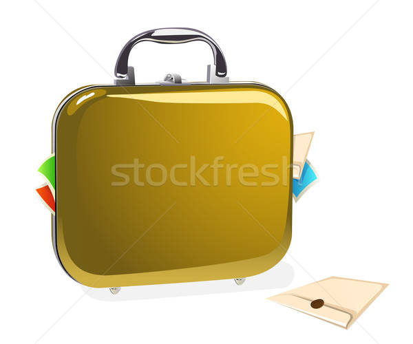 Case with documents vector illustration Stock photo © ayaxmr