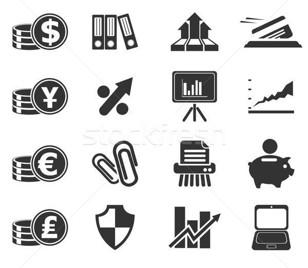 бизнеса Финансы веб-иконы просто символ пер Сток-фото © ayaxmr