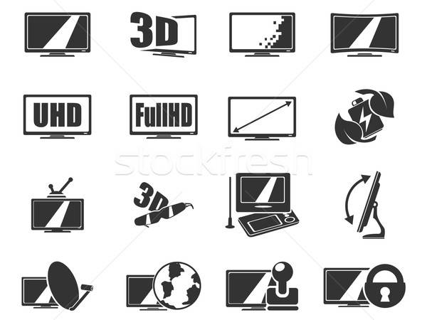Vector TV features and specifications Stock photo © ayaxmr