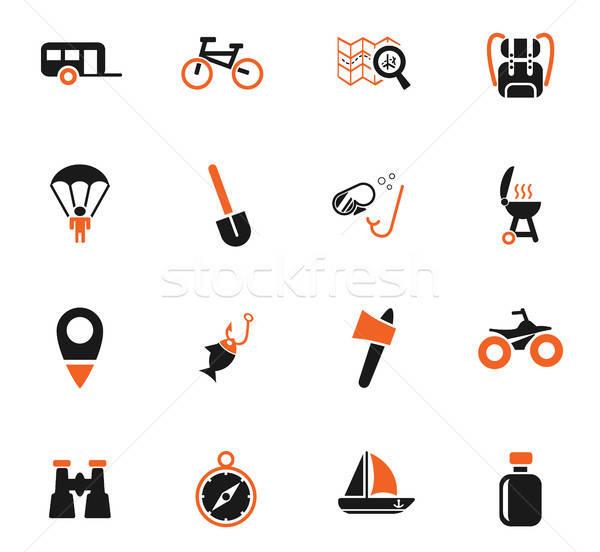 Stock photo: active recreation icon set