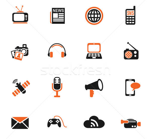 Médias icônes icônes web utilisateur interface Photo stock © ayaxmr