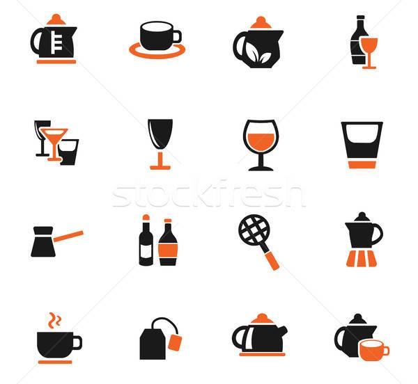 Utensílios bebidas os ícones do web usuário interface Foto stock © ayaxmr