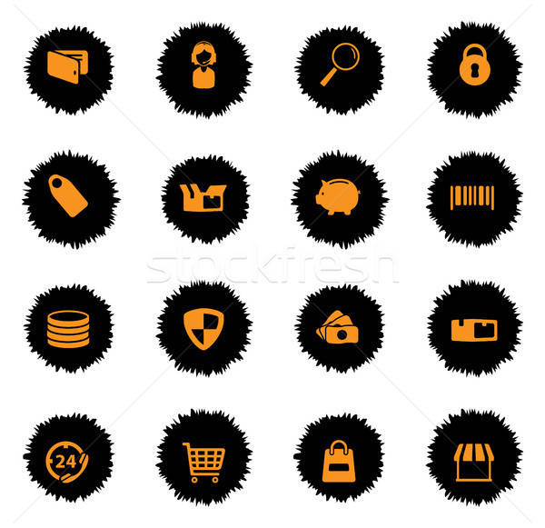 Stock photo: E-commerce simply icons