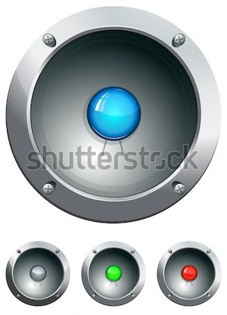 Hi-tech audio speaker vector illustration Stock photo © ayaxmr