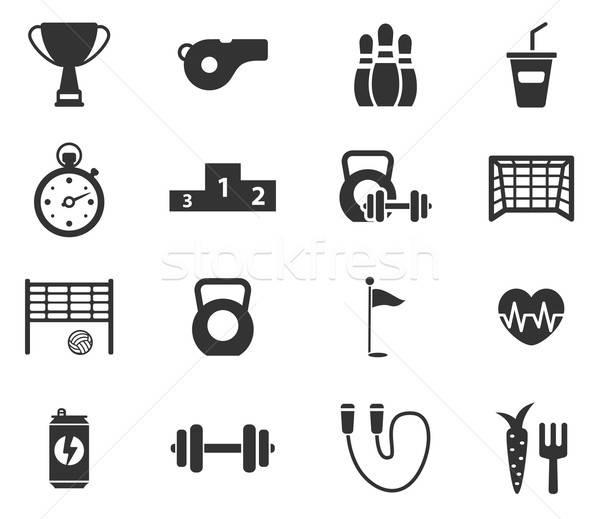 Sport egyszerűen ikonok szimbólum webes ikonok felhasználó Stock fotó © ayaxmr