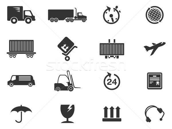 Vracht scheepvaart symbolen eenvoudig symbool web icons Stockfoto © ayaxmr