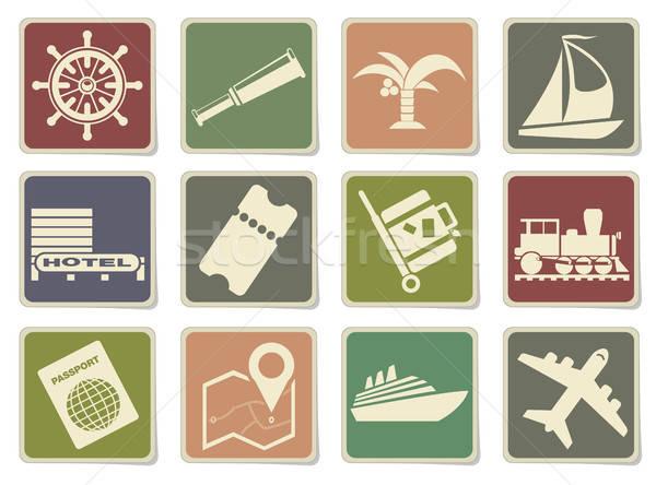 Tourism and Travel Icons Stock photo © ayaxmr