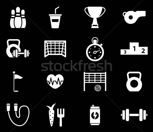 Esportes simplesmente ícones símbolo os ícones do web usuário Foto stock © ayaxmr