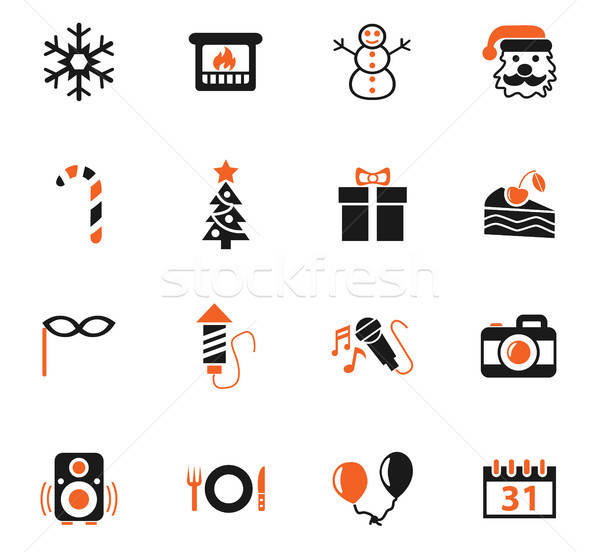 Nieuwjaar web icons gebruiker interface ontwerp Stockfoto © ayaxmr