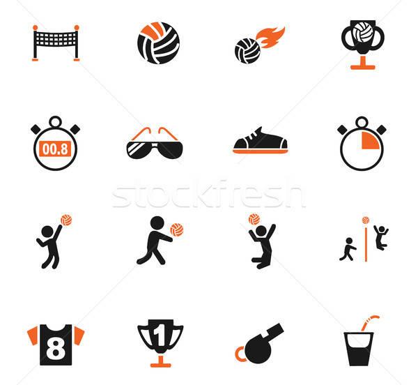 Voleibol os ícones do web usuário interface projeto Foto stock © ayaxmr
